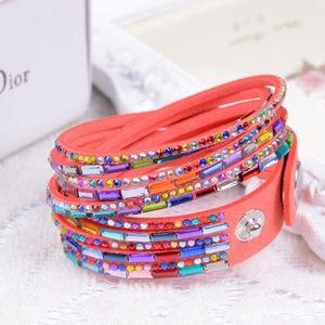 Multicolored Wrap Around Adjustable Bracelet NW